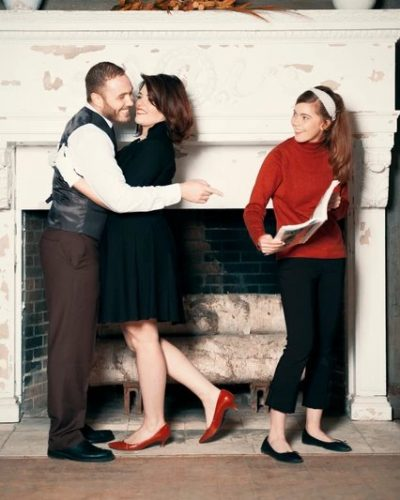 The Priest Family: Fun holiday card shoot with the Priest Family. Shot on location at 'The Aldworth Manor' in NH, with a 50's inspired theme.