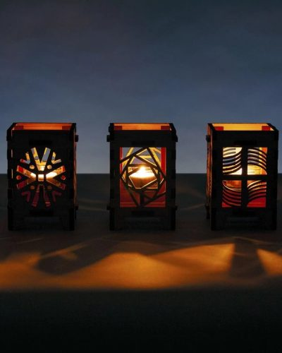 Candle Lamps: Beautiful crafts from OG Creations. New banner image for website and pop-up stall.