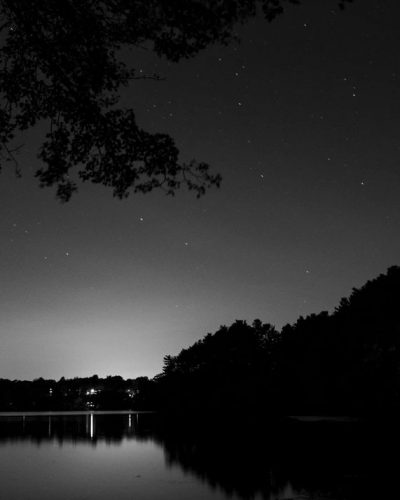 Morses Pond by night: Long exposure of Morses Pond in Wellesley, MA.
